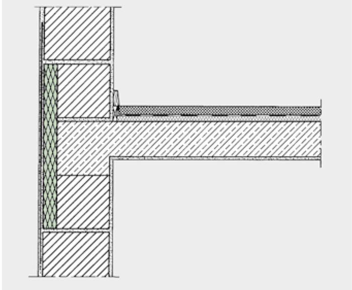 Fig. 1.5 Isolamento ottimale dei ponti termici nella zona di appoggio del solaio.
